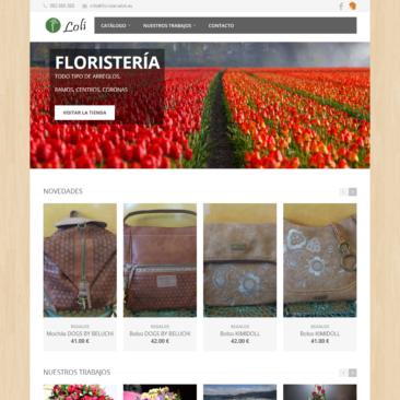 Portada de la web FloristeriaLoli.es