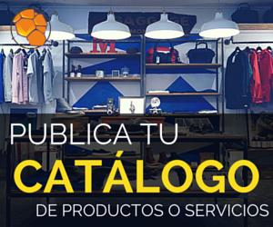 Publica tu catálogo de productos o servicios