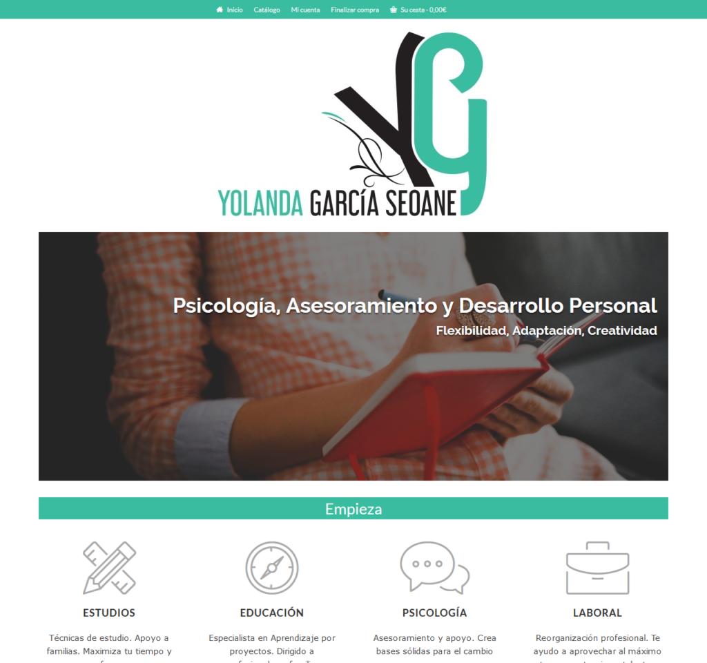 Yolanda García Seoane. Portada micro tienda on-line
