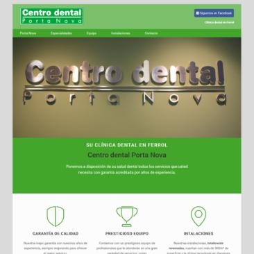 Captura página de inicio de www.centrodentalportanova.com