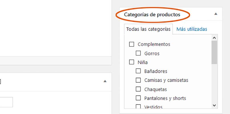 añadir categoría producto