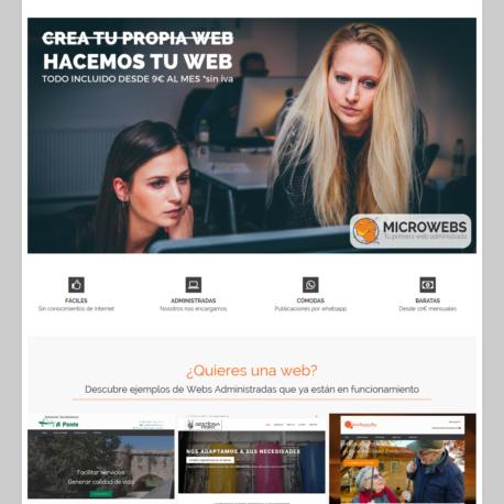 Landing page. Hacemos tu web.